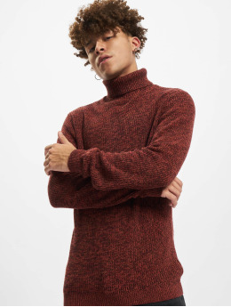 Redefined Rebel Swetry RROliver Roll Neck Knit  czerwony