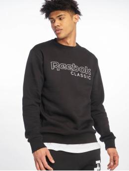Reebok Пуловер Fleece Crew черный