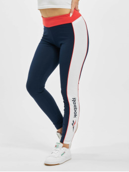 Reebok Leggings/Treggings Classic F Linear niebieski