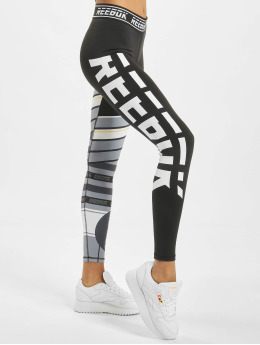Reebok Performance Legging Workout MYT Engineered schwarz