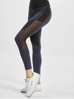 Reebok Performance Leggings/Treggings S Mesh niebieski