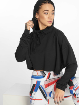 Reebok Performance Frauen Sport Hoodies D Crop in schwarz