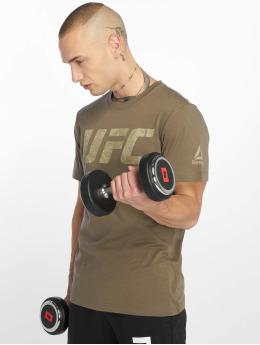 Reebok Performance t-shirt Ufc Fg Logo grijs