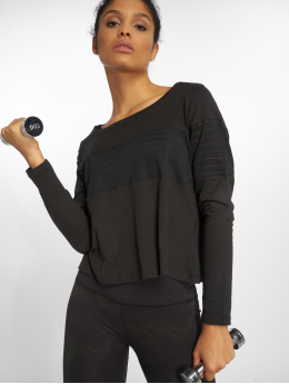 Reebok Performance T-Shirt manches longues Lay Mesh noir
