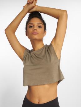 Reebok Performance T-skjorter Combat Spraydye Crop beige