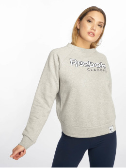 Reebok Frauen Pullover AC Iconic Fleece in grau