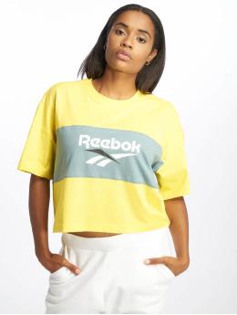 Reebok t-shirt Cl V P Cropeed geel