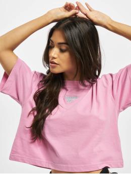 Reebok T-Shirt QQR Cropped rosa