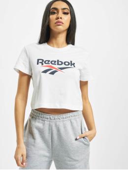 Reebok T-Shirt Classic F Vector Crop weiß