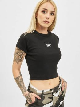 Reebok t-shirt Cl Wde Ribbed zwart
