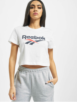 Reebok T-Shirty Classic F Vector Crop bialy