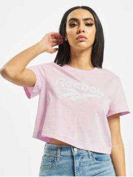 Reebok T-Shirty Classic F Vector Crop pink
