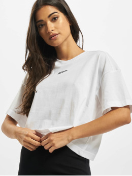 Reebok T-skjorter QQR Cropped hvit