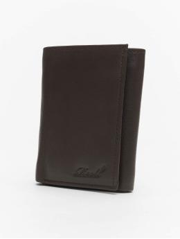 Reell Jeans Portfele Mini Trif. Leather brazowy