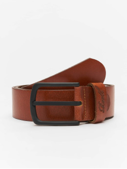 Reell Jeans riem All Black Buckle bruin
