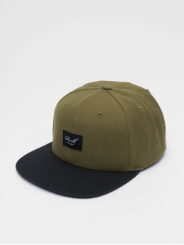 b777cf89608 Reell Jeans Snapback Cap Pitchout 6 Panel olive