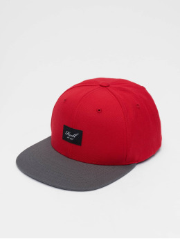 Reell Jeans Snapback Cap Pitchout 6 Panel rosso