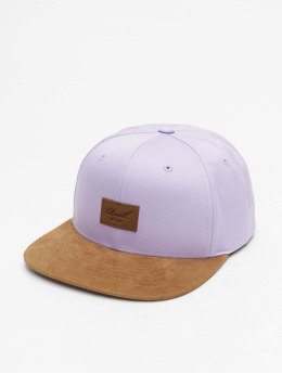 Reell Jeans Snapback Caps Suede fioletowy