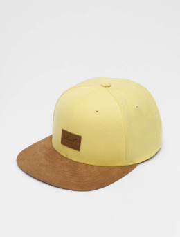 Reell Jeans Snapback Caps Suede 6 Panel keltainen