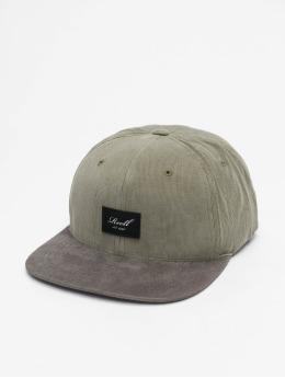 Reell Jeans Snapback Caps Suede oliivi