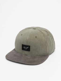 Reell Jeans Snapback Caps Suede oliwkowy