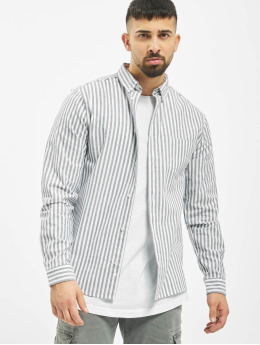 Revolution Hemd Long Sleeve Striped grau