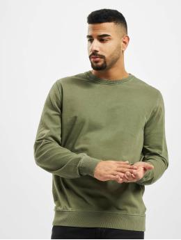 Revolution Pulóvre Garment Dyed olivová