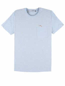 Revolution T-Shirt Pocket And Embroidery blau