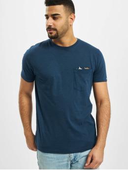 Revolution T-Shirty Pocket And Embroidery niebieski
