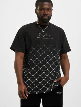 Sean John T-Shirty Classic Logo Aop Gradient czarny