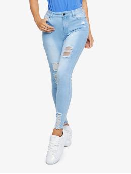 Sik Silk Облегающие джинсы Distressed  синий