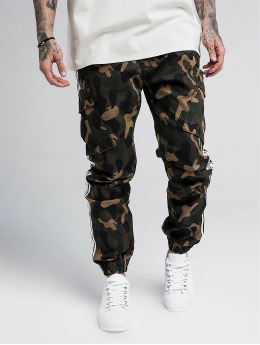 Sik Silk Chino bukser Taped Cargo kamuflasje
