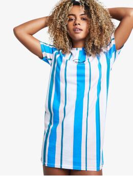 Sik Silk Dress 90's Stripe  blue