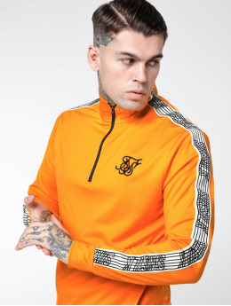 Sik Silk Hoodie 1/4 Zip Overhead Runner orange