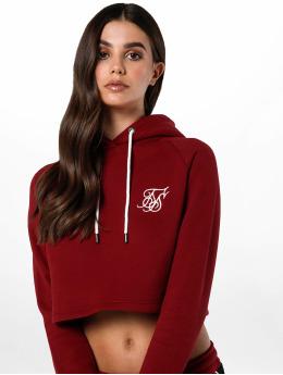 Sik Silk Hoodie Cropped röd