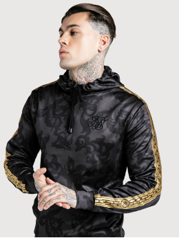 Sik Silk Hoody Muscle Fit Poly Overhead schwarz