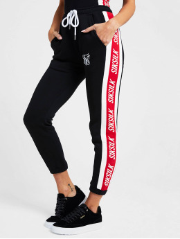 Sik Silk Jogging kalhoty Stripes  čern
