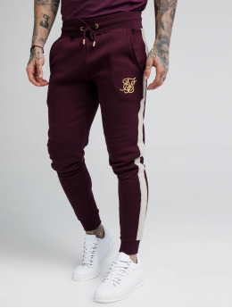 Sik Silk Jogging kalhoty Fitted Taped červený