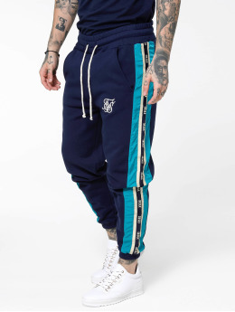 Sik Silk Jogging kalhoty Panel Piped Taped modrý