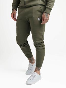 Sik Silk joggingbroek Muscle Fit khaki