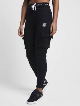 Sik Silk joggingbroek Cargo  zwart
