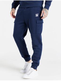 Sik Silk Joggingbukser Cargo Fleece blå