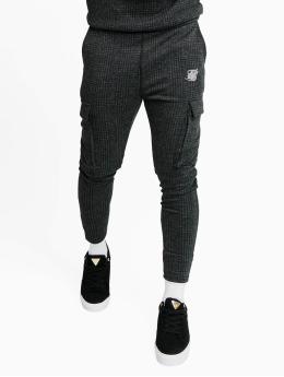 Sik Silk Joggingbukser Tonal Check Cargo  grå