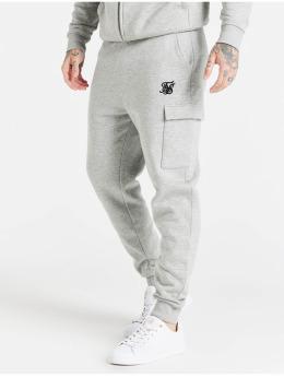 Sik Silk Joggingbukser Cargo Fleece grå