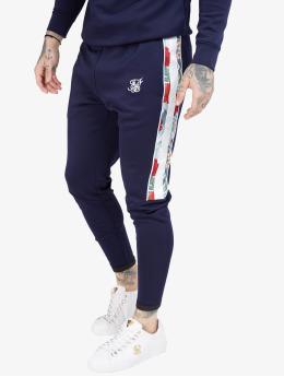 Sik Silk Jogginghose Elasticated Cuff Panel  blau