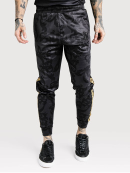 Sik Silk Jogginghose Croped Cuffed Poly schwarz