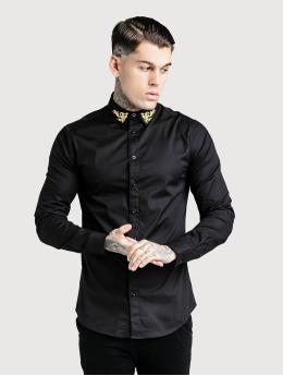 Sik Silk Koszule Muscle Fit czarny
