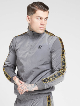 Sik Silk Lightweight Jacket Quarter Zip Funnel  gray