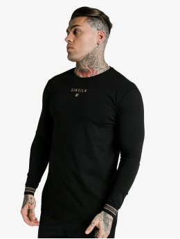 Sik Silk Longsleeve Element Hem Gym black