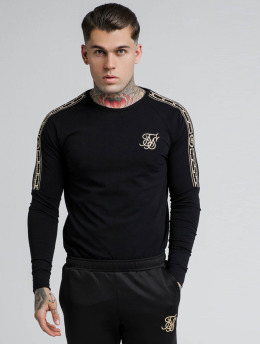 Sik Silk Longsleeves Cartel Gym čern